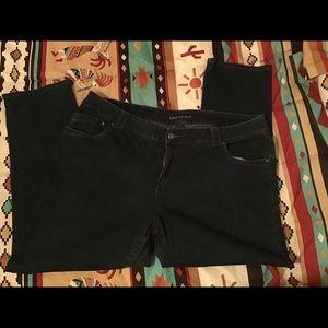 Lane Bryant Dark Wash Jean Size 24 Strait Leg